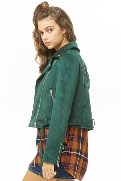 Forever 21 Faux Suede Moto Jacket