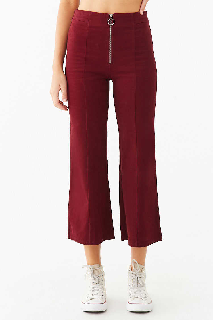 Forever 21 Flare Ankle Pants