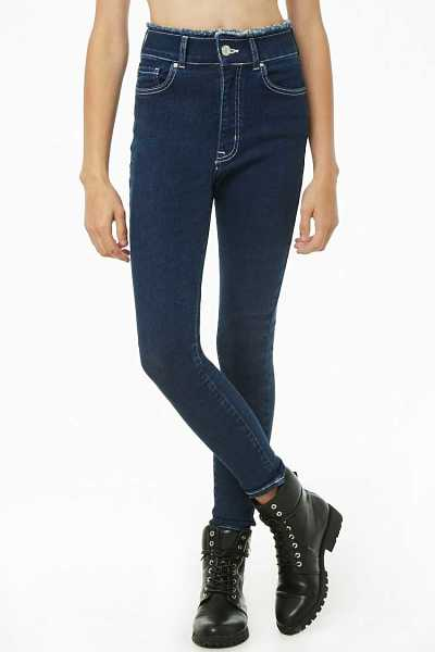 Forever 21 Frayed High-Rise Jeans