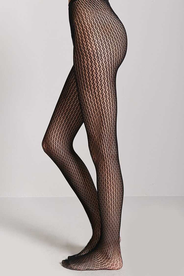 Forever 21 French Lace Fishnet Tights