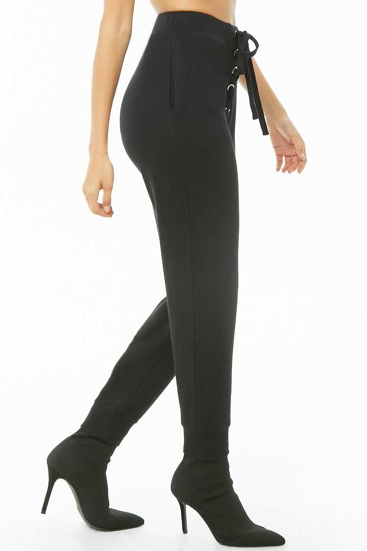 Forever 21 French Terry Lace-Up Joggers