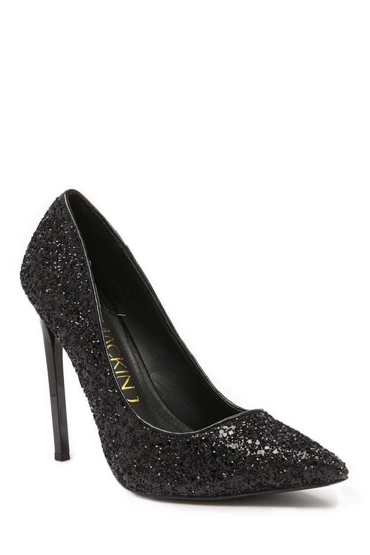 Forever 21 Glittery Pointed Toe Pumps
