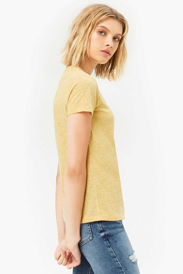 Forever 21 Heathered Knit Tee