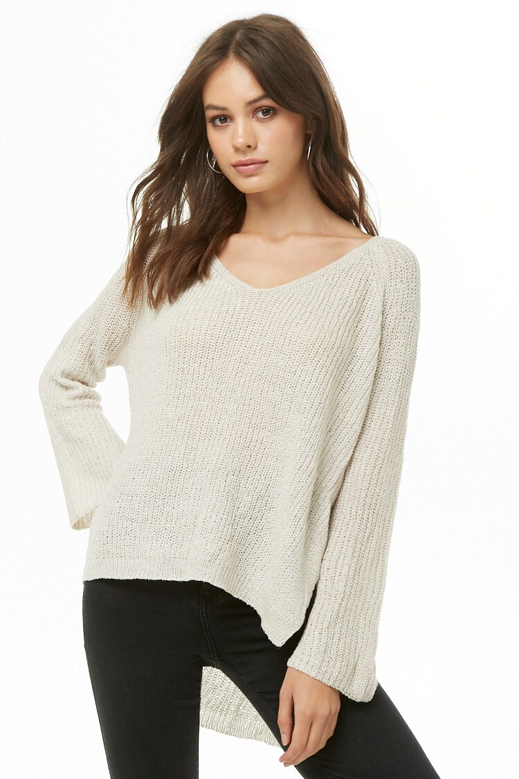 Forever 21 High-Low Side-Tie Sweater