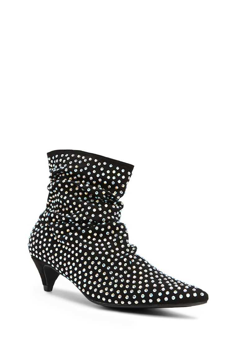 Forever 21 Iridescent Studded Booties