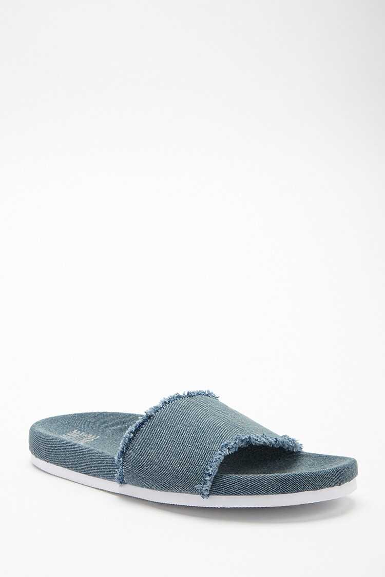 Forever 21 Jane And The Shoe Denim Slides