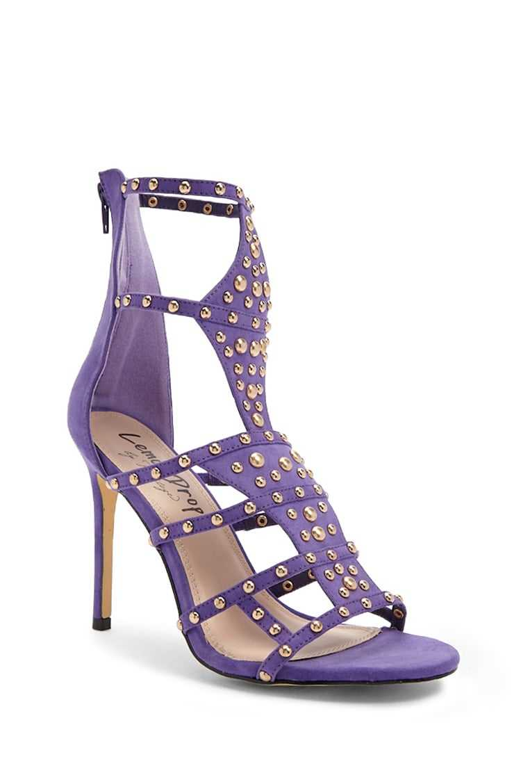 Forever 21 Lemon Drop By Privileged Studded Stiletto Heels