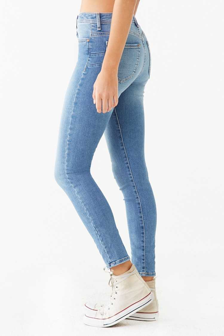 Forever 21 Mid-Rise Push-Up Jeans