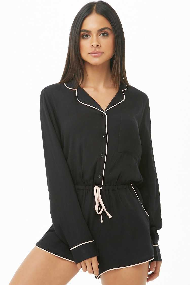 Forever 21 Notched Collar Romper