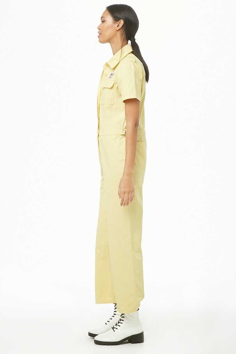 Forever 21 Patch Graphic Utility Jumpsuit