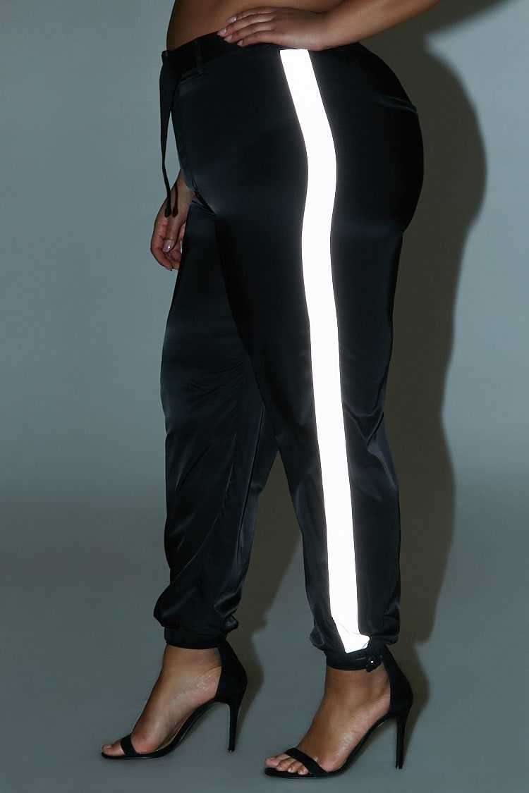 Forever 21 Plus Size Belted Contrast Wind Pants