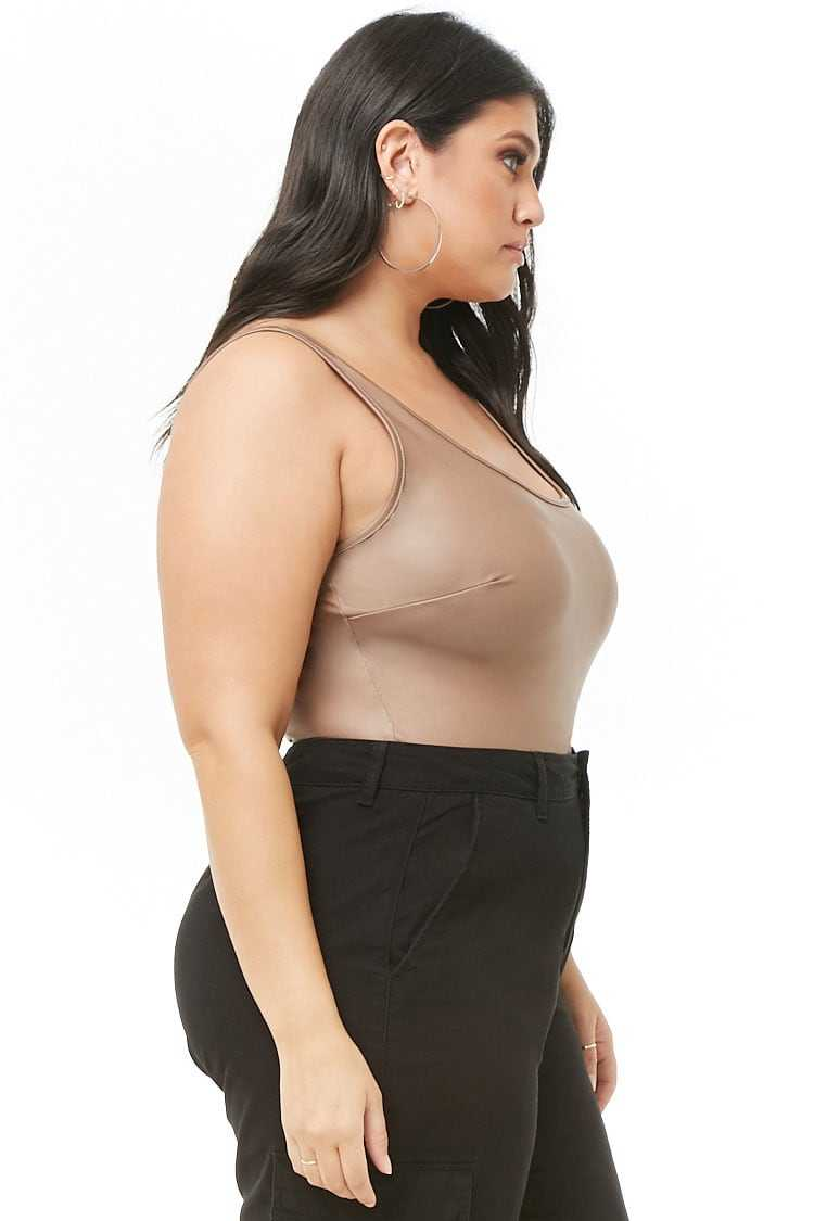 Forever 21 Plus Size Coated Bodysuit