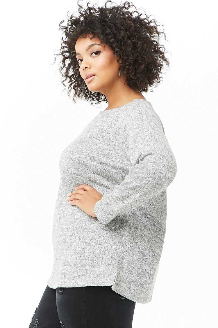 Forever 21 Plus Size Marled Knit Top