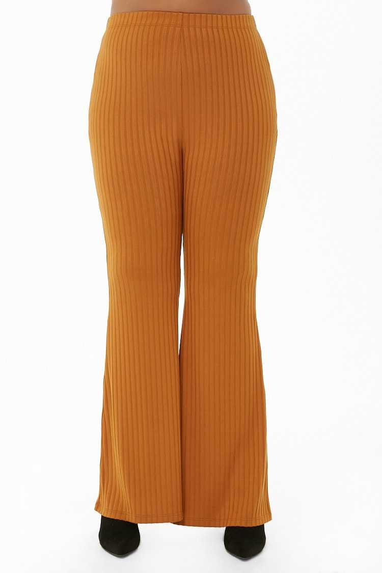 Forever 21 Plus Size Ribbed Flare Pants
