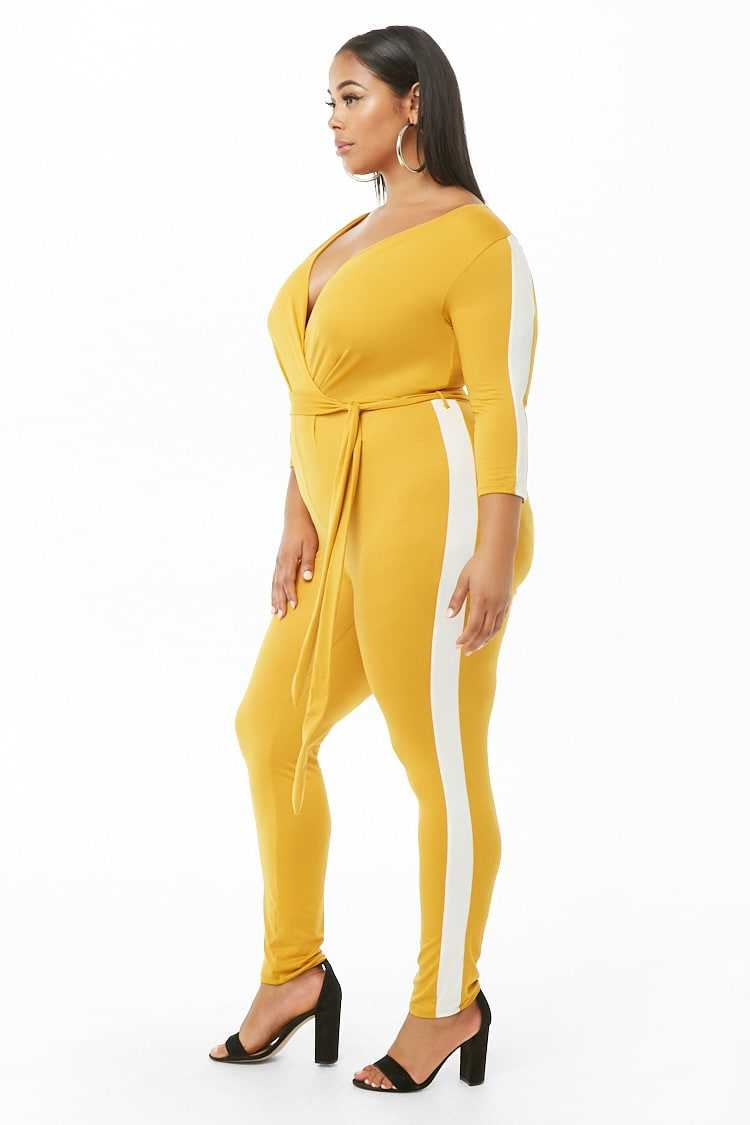 Forever 21 Plus Size Side-Striped Jumpsuit