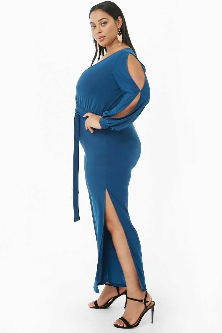 Forever 21 Plus Size Surplice Belted Jumpsuit