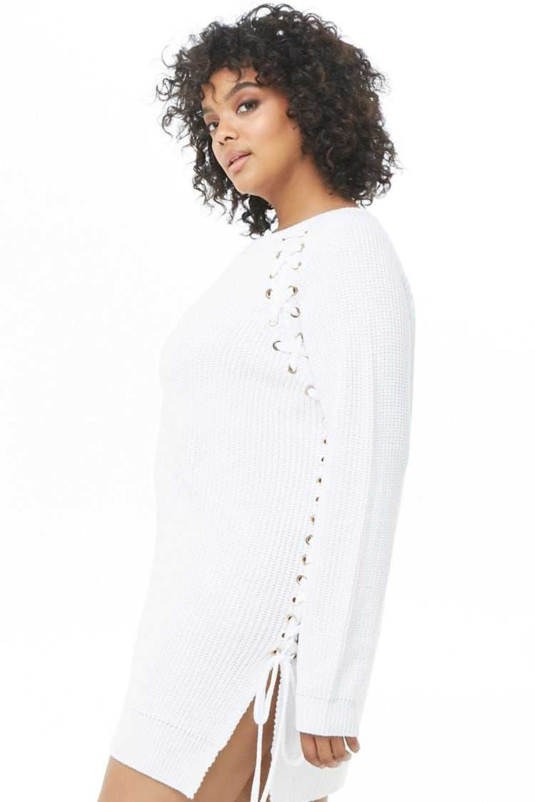 Forever 21 Plus Size Vented Lace-Up Tunic