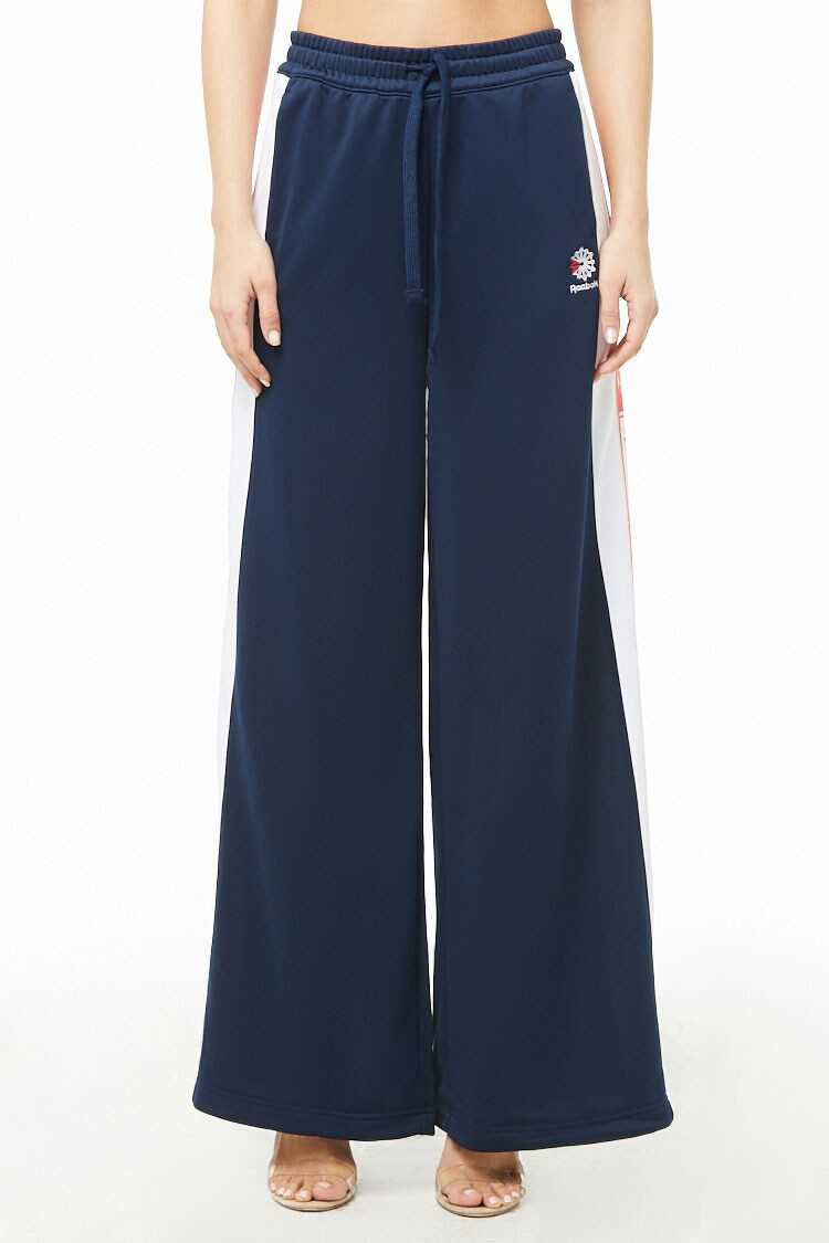 Forever 21 Reebok Classic Wide-Leg Track Pants