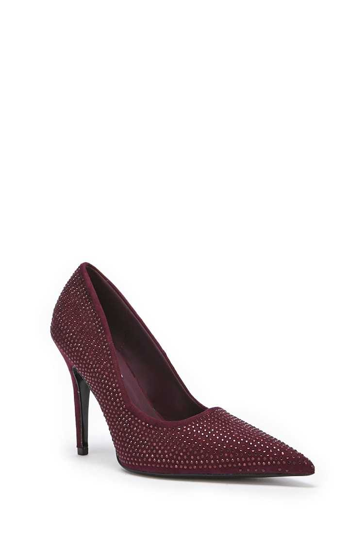 Forever 21 Rhinestone Faux Suede Pumps
