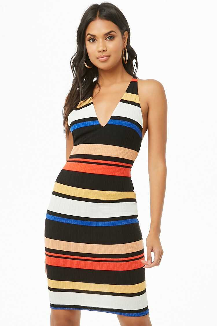 Forever 21 Ribbed Colorblock Dress