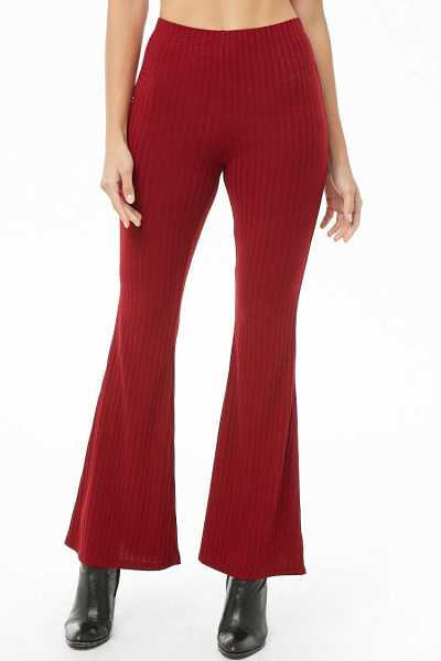 Forever 21 Ribbed Knit Flare Pants