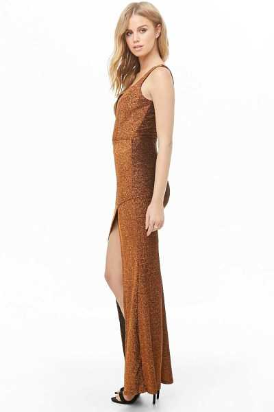 Forever 21 Ruched Glitter Knit Maxi Dress