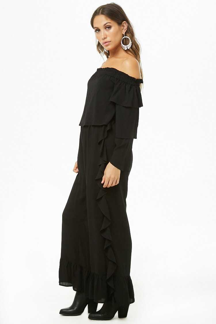 Forever 21 Ruffle Off-the-Shoulder Jumpsuit