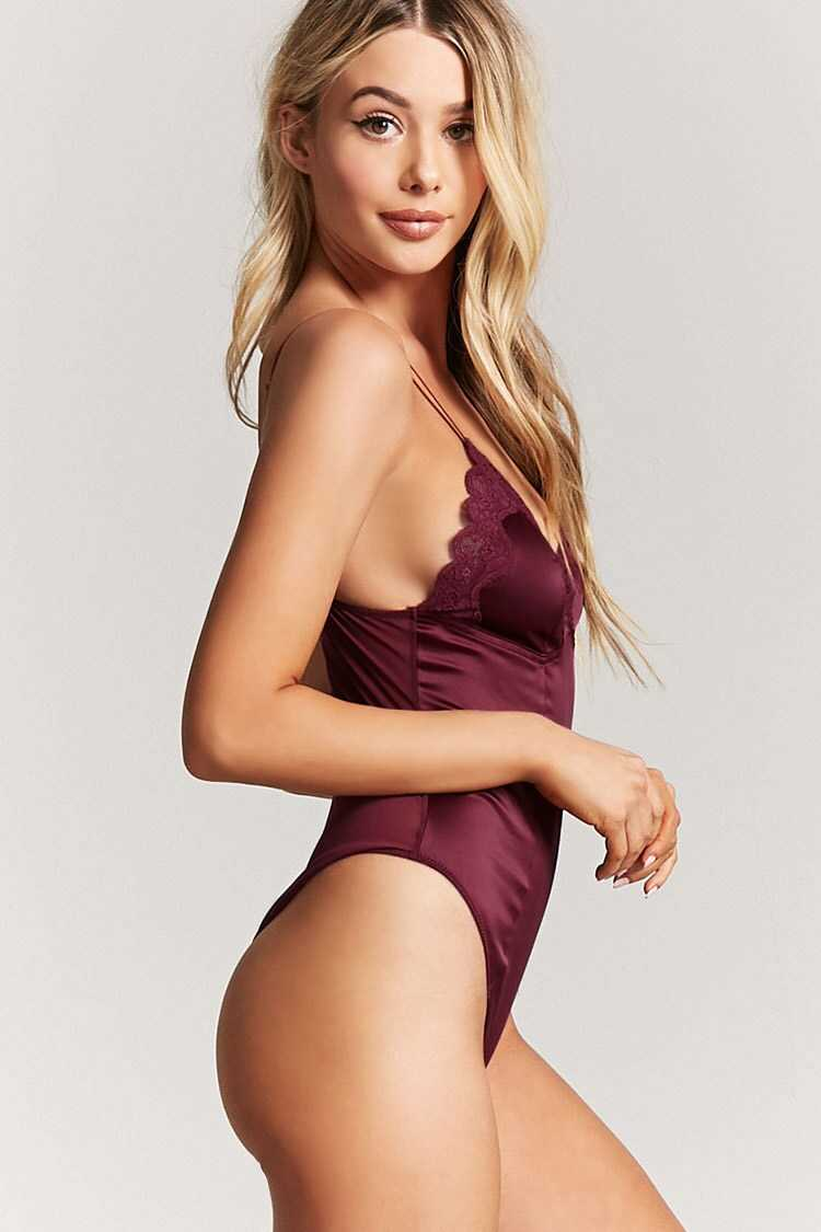 Forever 21 Satin Lace Teddy