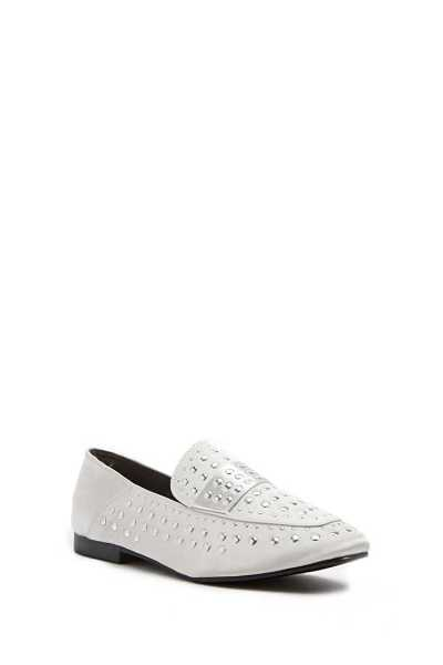 Forever 21 Satin Studded Loafers