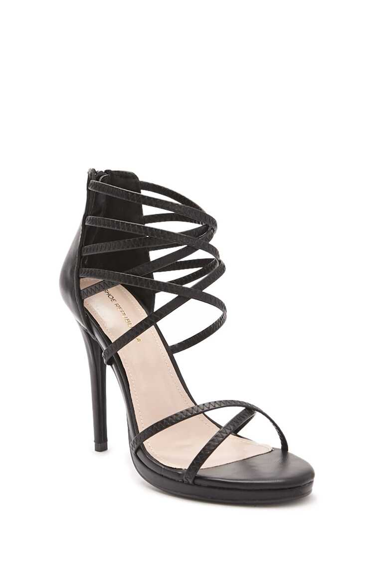 Forever 21 Shoe Republic Strappy Stiletto High Heels
