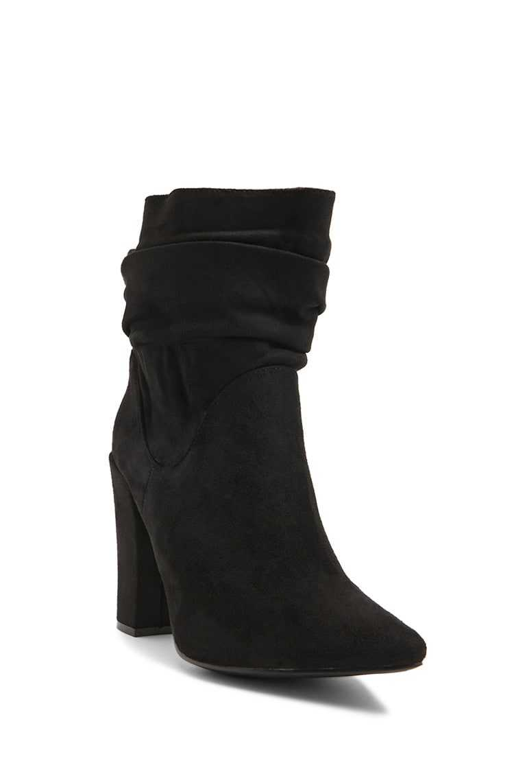 Forever 21 Slouchy Faux Suede Booties