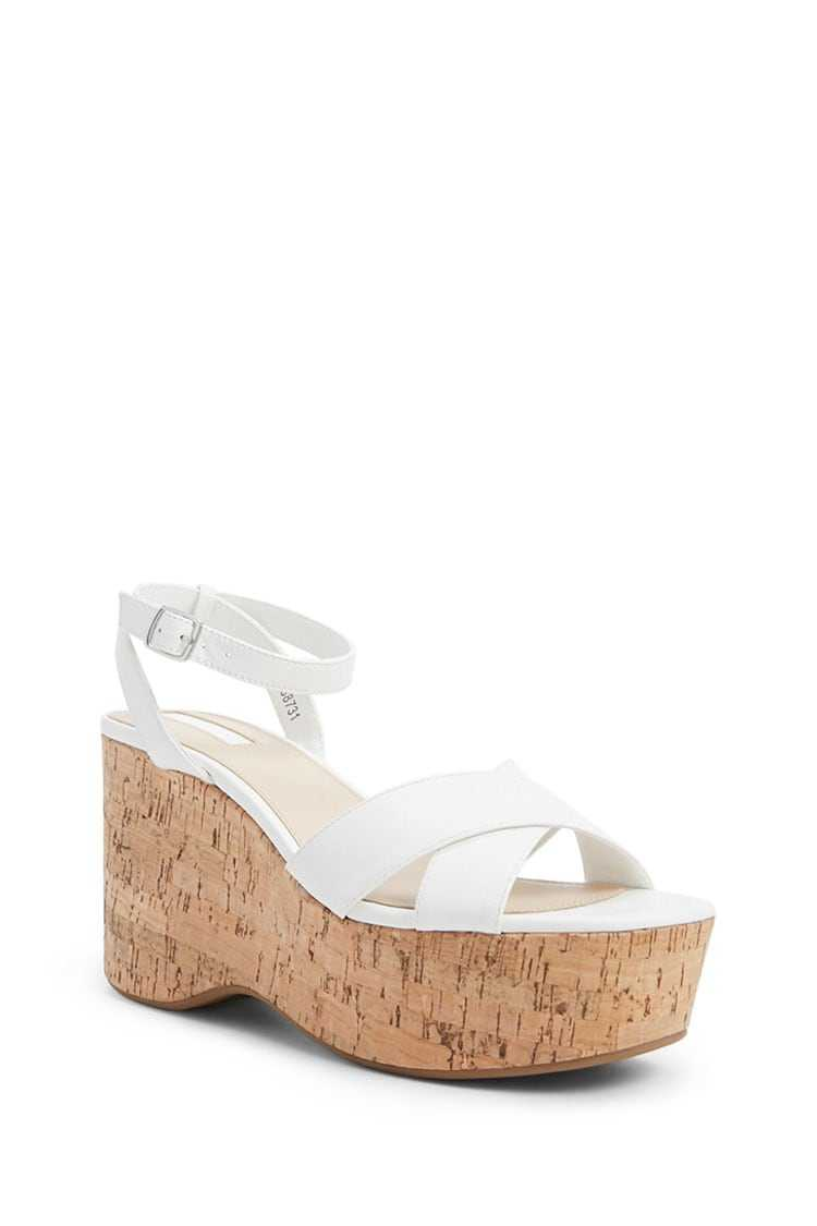 Forever 21 Strappy Cork Wedges