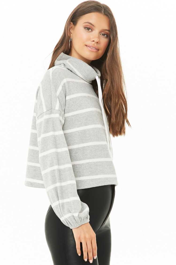 Forever 21 Striped Brushed Top