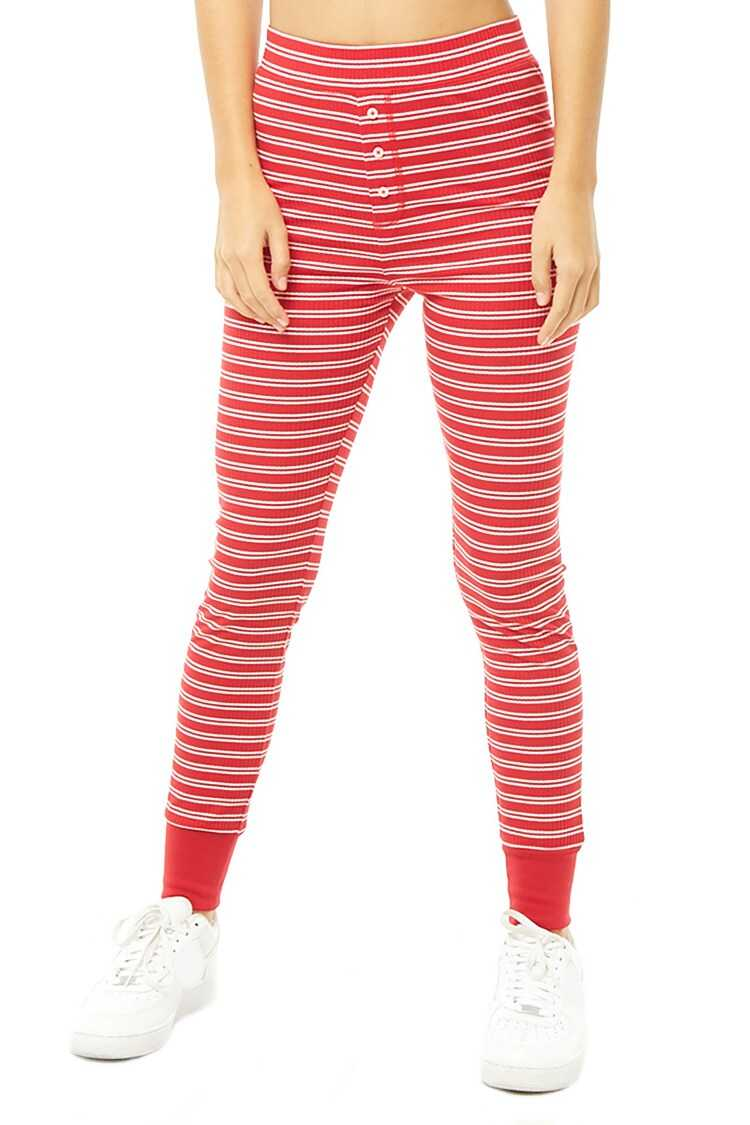 Forever 21 Striped Ribbed Joggers