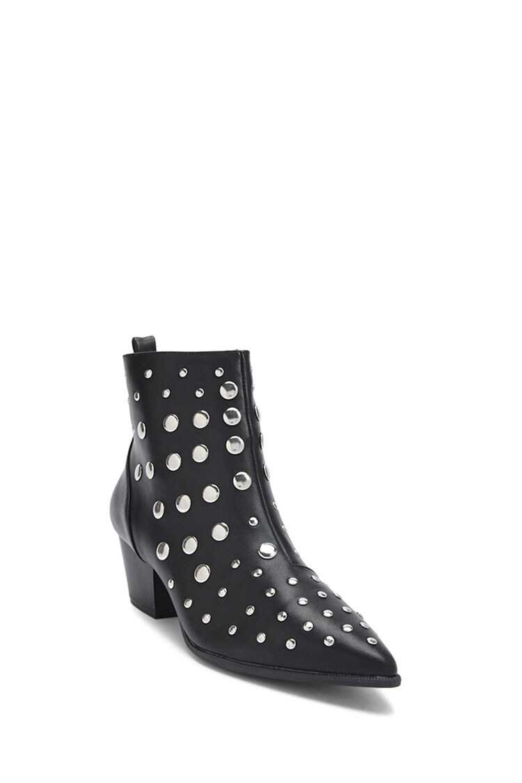 Forever 21 Studded Ankle Boots