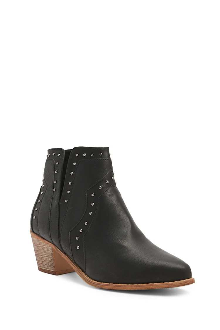 Forever 21 Studded Notched Booties