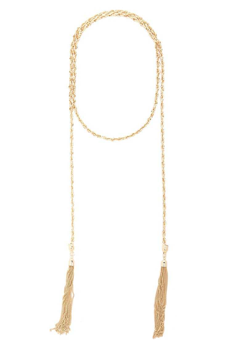 Forever 21 Tassel Chain Necklace