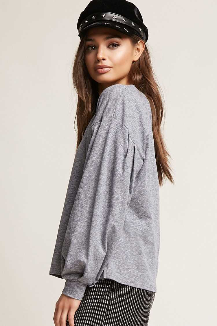 Forever 21 V-Cutout Knit Top