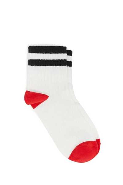 Forever 21 Versatile Happy Graphic & Striped Crew Socks