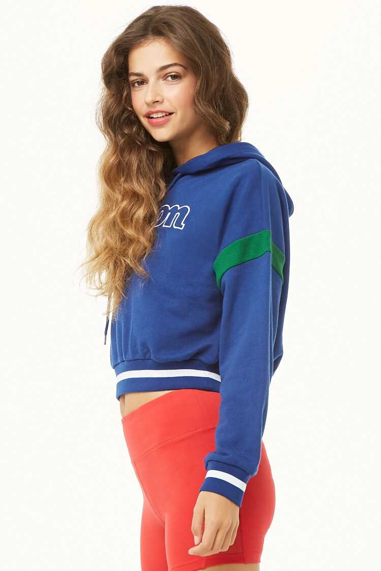 Forever 21 Wilson French Terry Hooded Logo Pullover