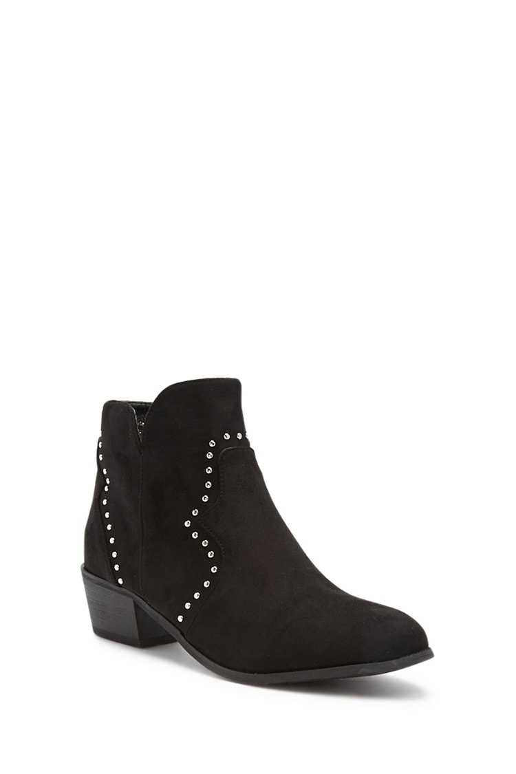 Forever 21 Yoki Studded Ankle Boots