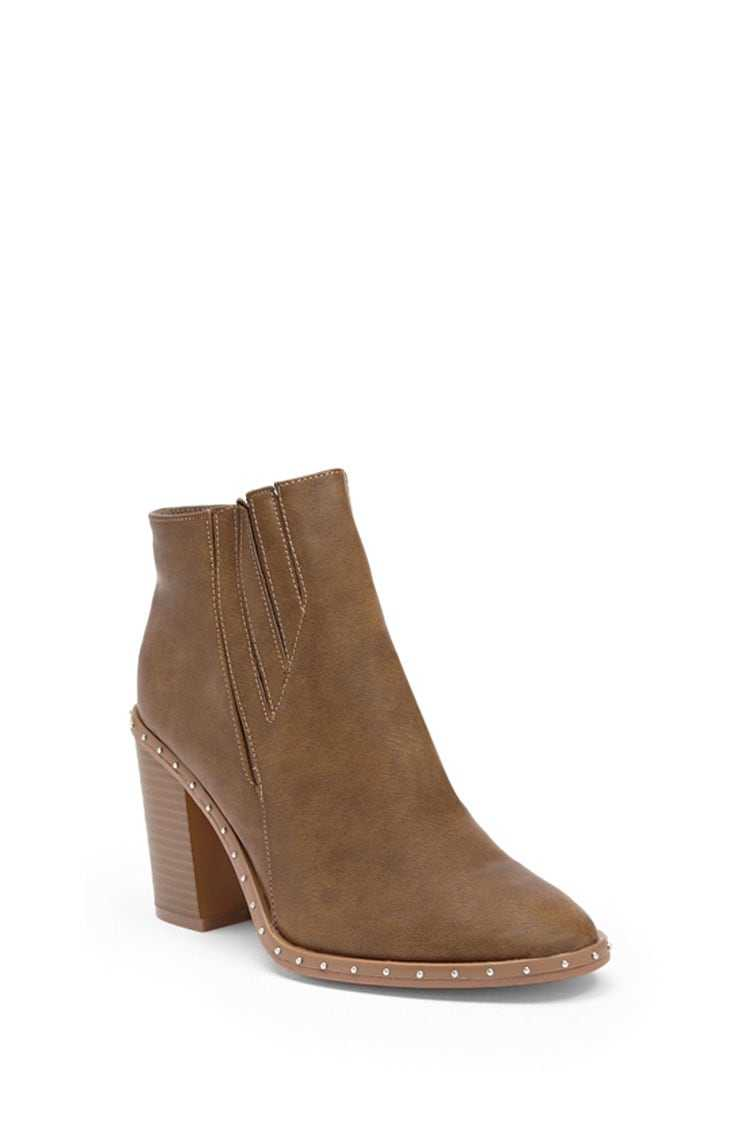 Forever 21 Yoki Studded Faux Leather Booties
