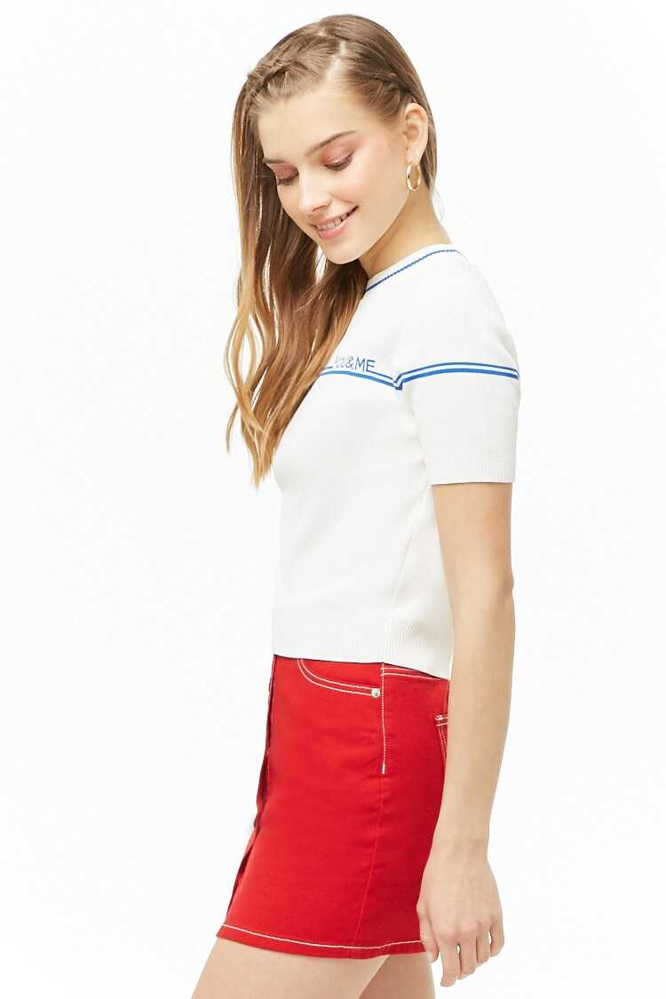 Forever 21 You & Me Graphic Top