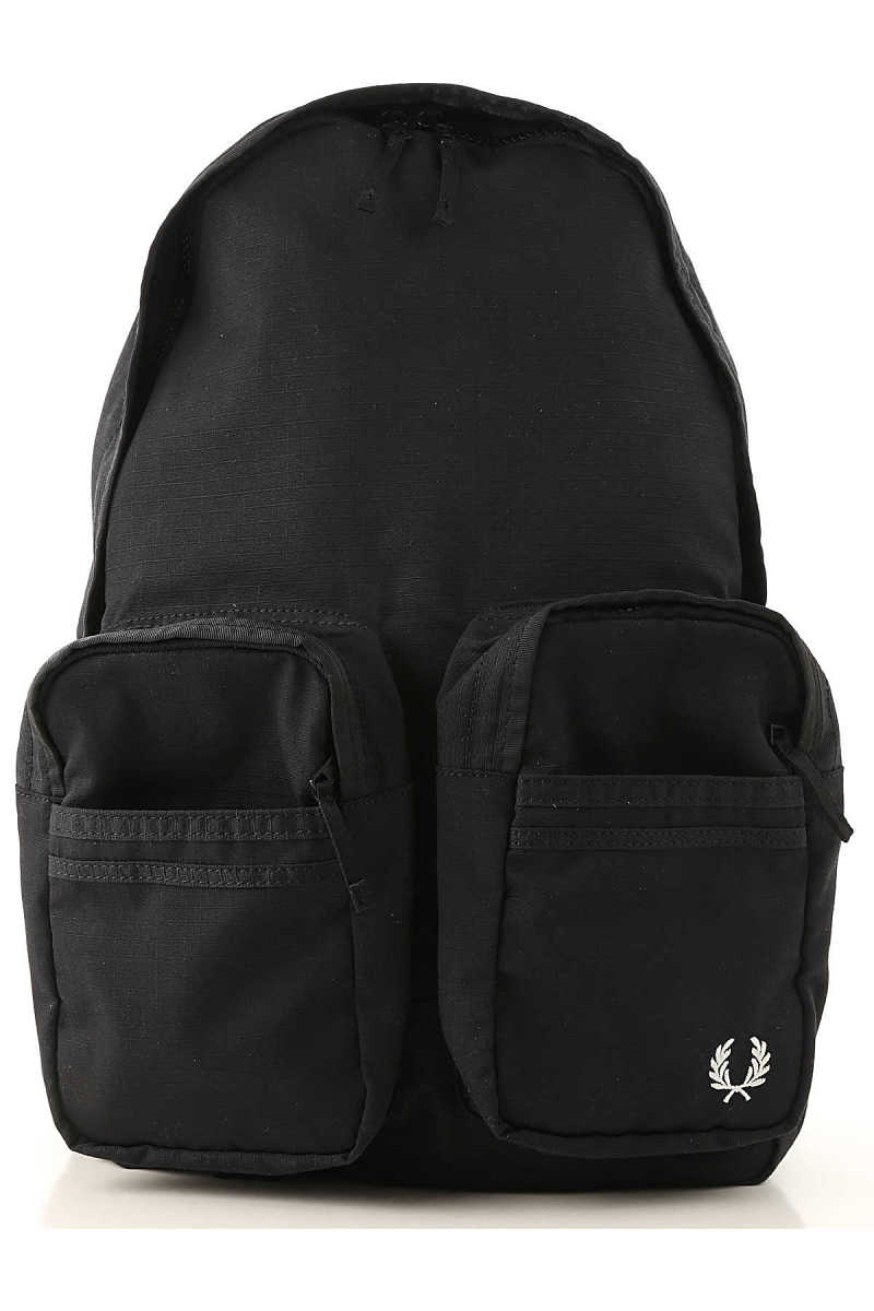 Fred Perry Backpack for Men Black DK - GOOFASH - Mens BAGS