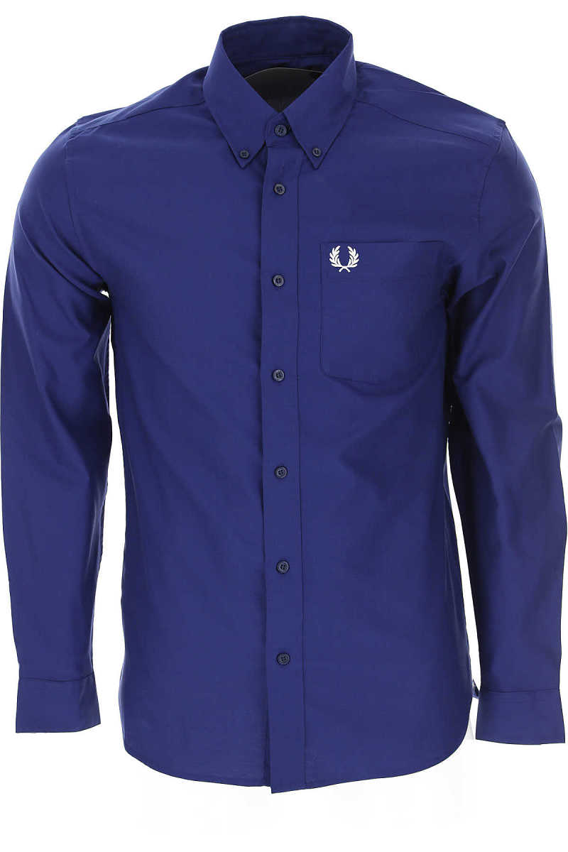 Fred Perry Shirt for Men Medieval Blue DK - GOOFASH - Mens SHIRTS