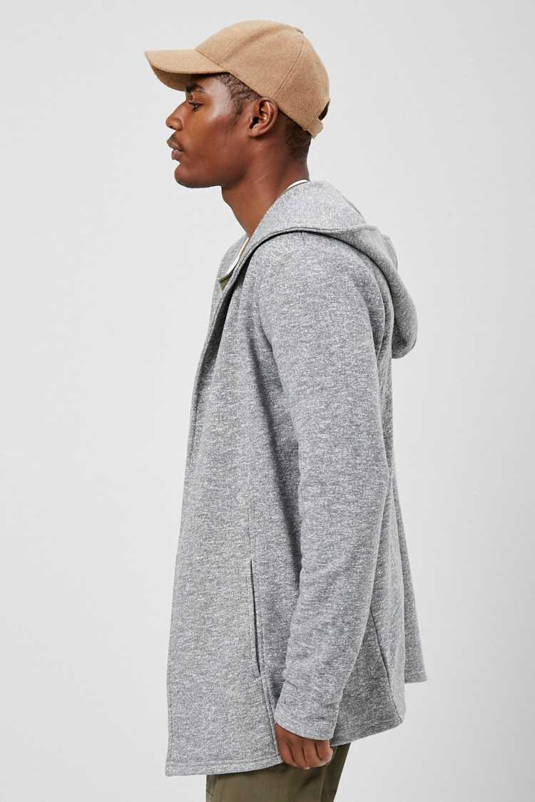 French Terry Hooded Cardigan at Forever 21
