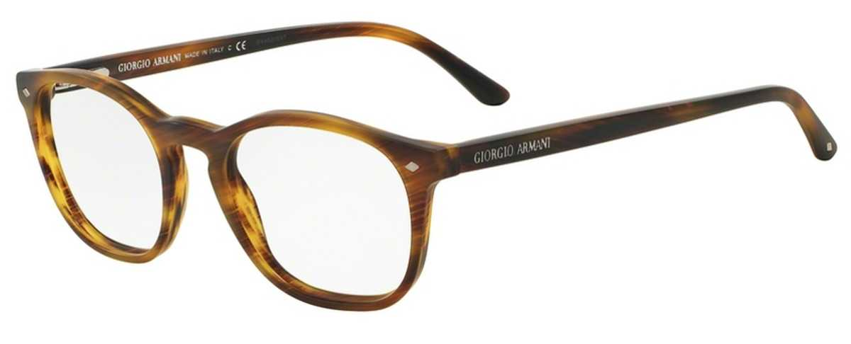 Giorgio Armani AR 7074 Eyeglasses Striped Matte Light Brown USA - GOOFASH - Mens SUNGLASSES