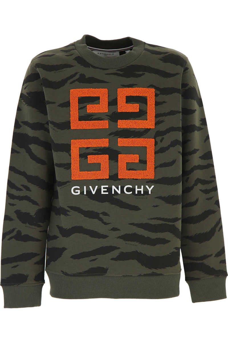 Givenchy Kids Sweatshirts & Hoodies for Boys Military Green DK - GOOFASH - Mens SWEATERS