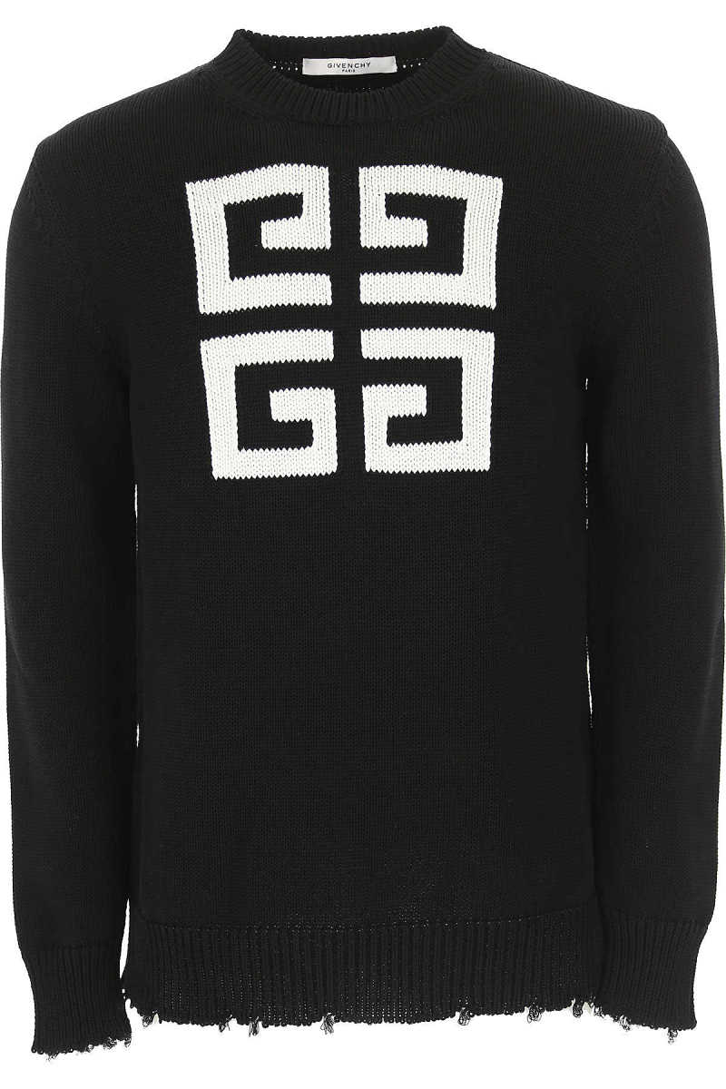 Givenchy Sweater for Men Jumper On Sale Black DK - GOOFASH - Mens SWEATERS