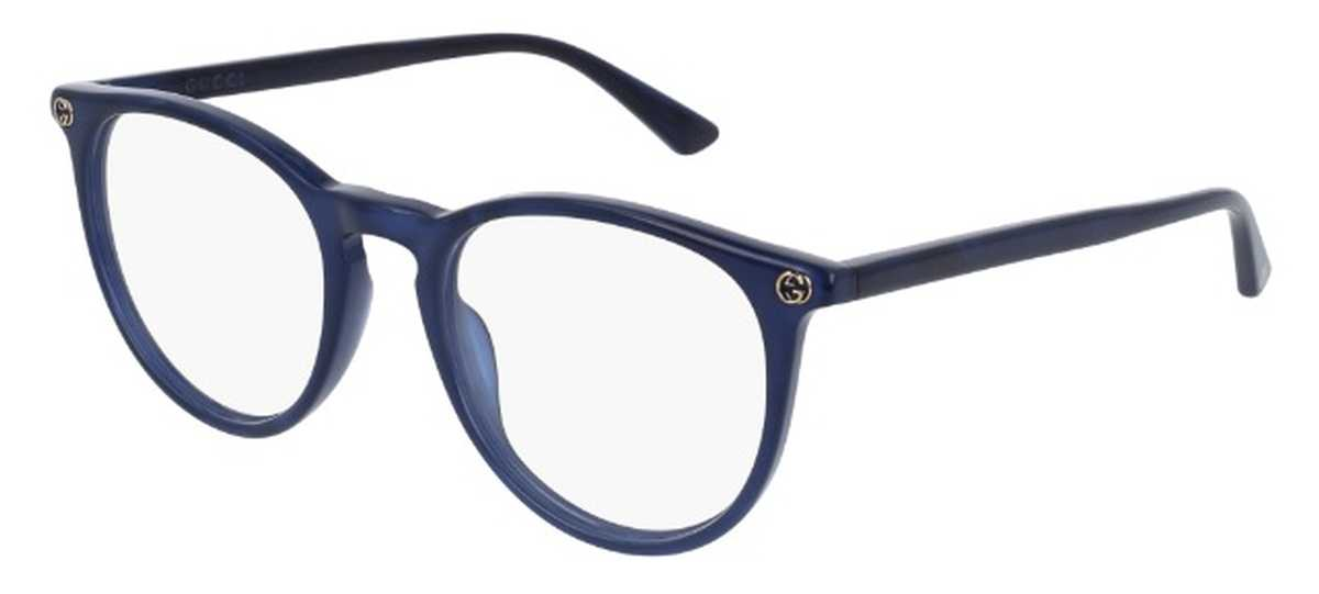 Gucci GG 0027O Eyeglasses Blue 005 USA - GOOFASH - Womens SUNGLASSES